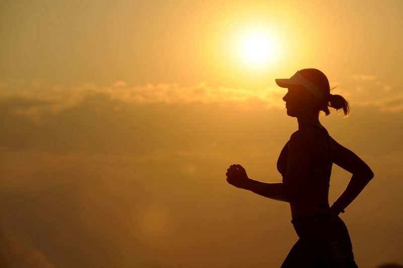 Courir canicule chaud