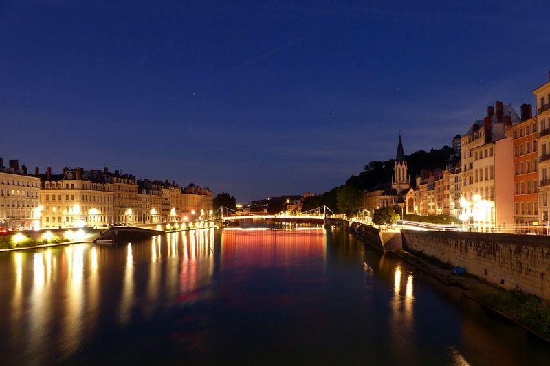 Courir à Lyon de nuit
