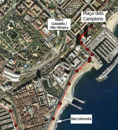 Partie 1 du parcours à Barcelone