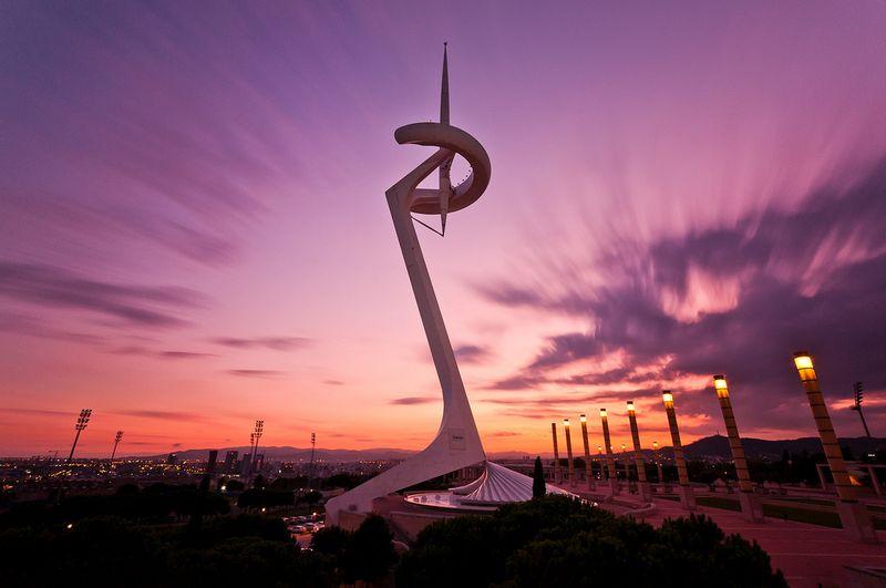 Arrivée sur la place des Jeux Olympiques 1992 de Barcelone