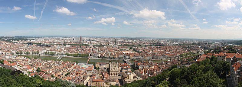 Vue sur Lyon depuis la Basilique de Fourvière