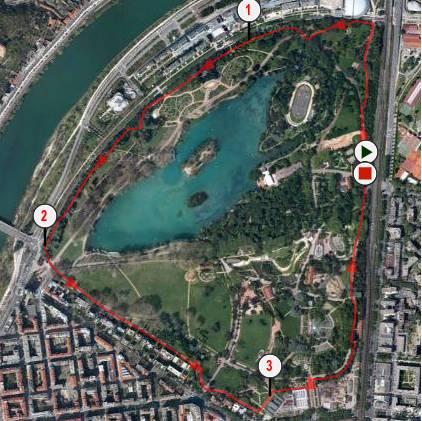 Tour du Parc de la Tête d'Or à Lyon