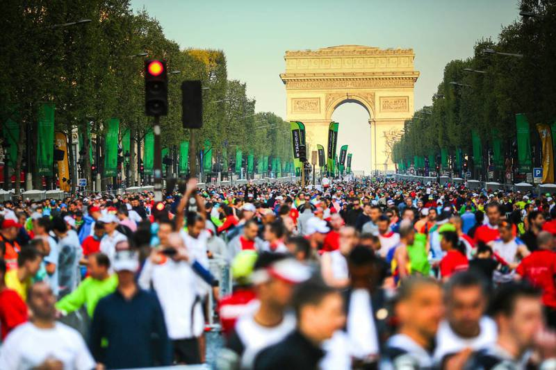 Marathon de Paris avec départ des Champs-Elysées