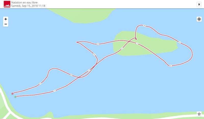 Activité natation GPS