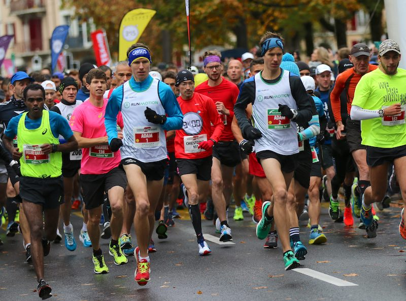 Départ du marathon de Lausanne