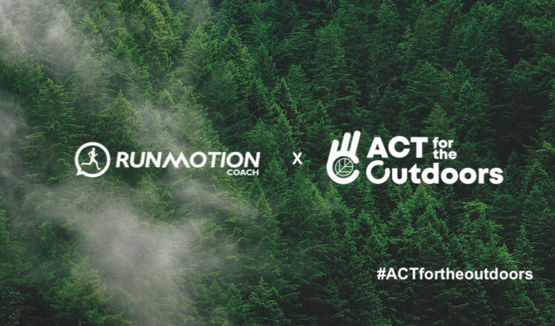 RunMotion Coach s'engage avec Act for the Outdoors