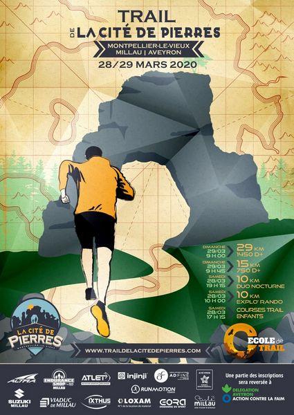 Affiche Trail Cité de Pierres