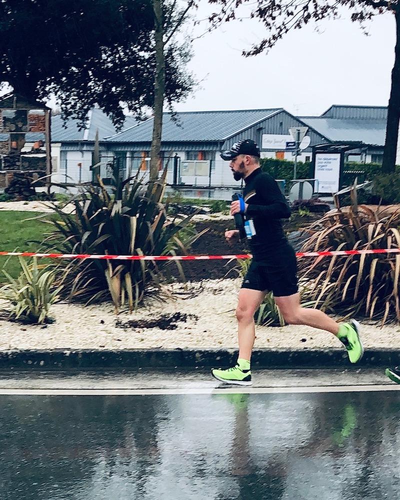 Yohann court un semi-marathon en préparation de son marathon