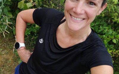 Stéphanie court le Trail de Pierrefonds